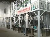 延津50吨玉米加工设备安装案例